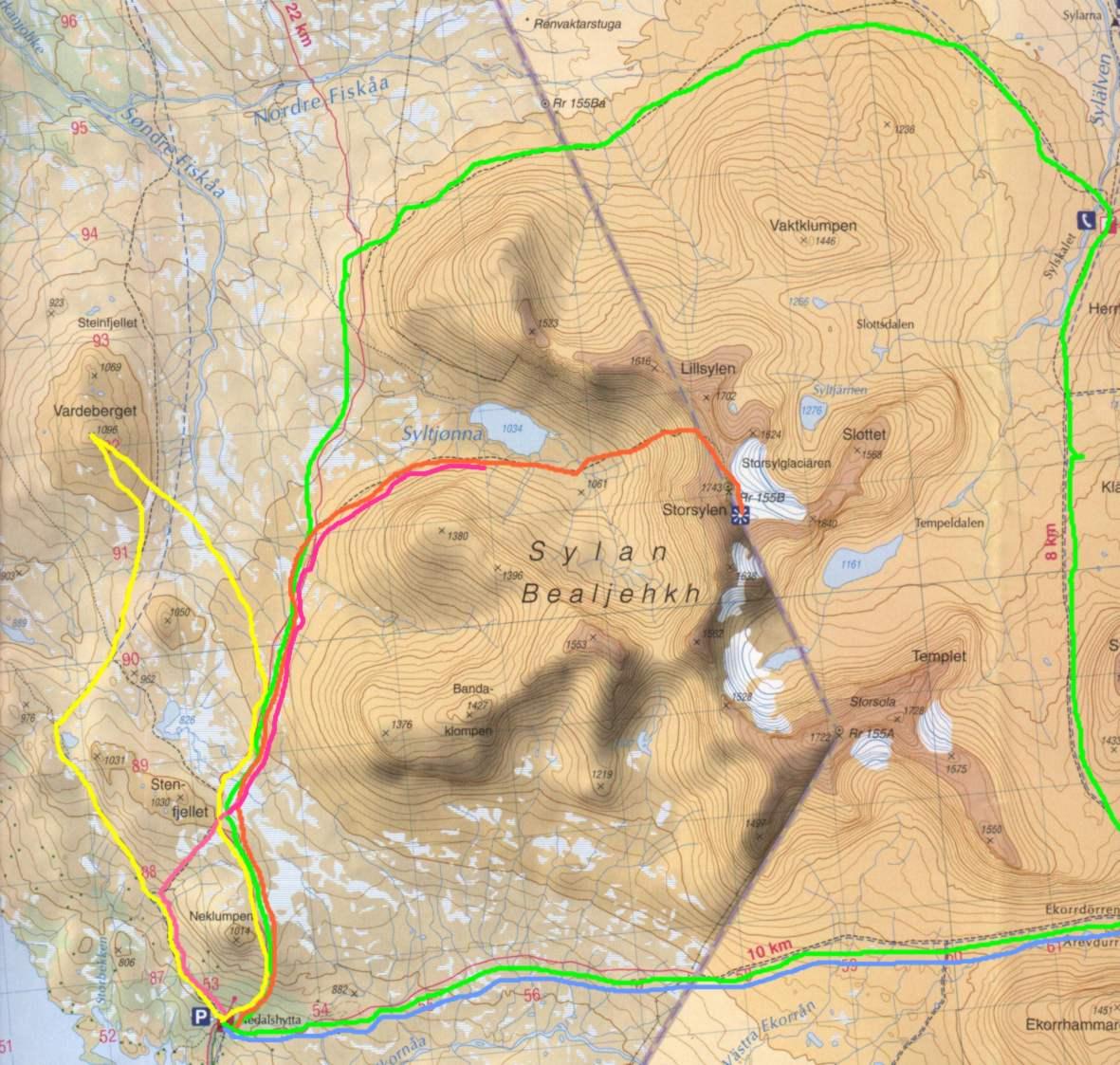 sylan kart 2002091 Fjelltur i Sylane sylan kart